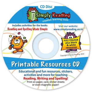 Printable Resources CD by Simply Reading